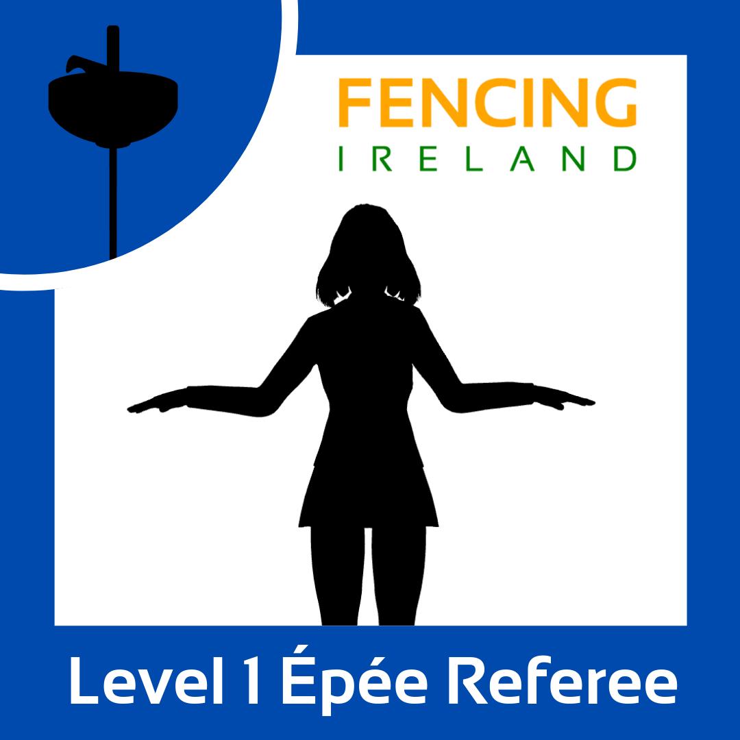 Level 1 Épée Referee Graphic